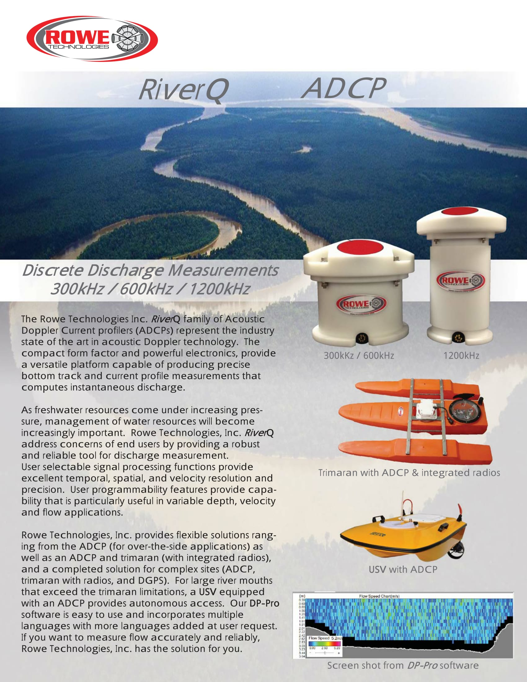 Direct Reading ADCP for River Discharge Measurements